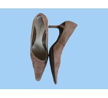 туфли замшевые женские 40 размера светло-коричневые из Италии - Женская обувь в Краснодаре
