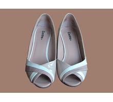 женские туфли бу лакированные с открытыми носками бежевые фирмы Центро - Женская обувь в Краснодаре