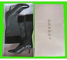 сапоги женские черные кожаные бу итальянские - Женская обувь в Краснодаре
