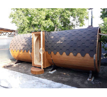 Баня-бочка 5,7 метров от производителя - Бани, бассейны и сауны в Краснодаре