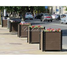 Кашпо уличные из металла и лиственницы для крупных растений - Садовая мебель и декор в Сочи