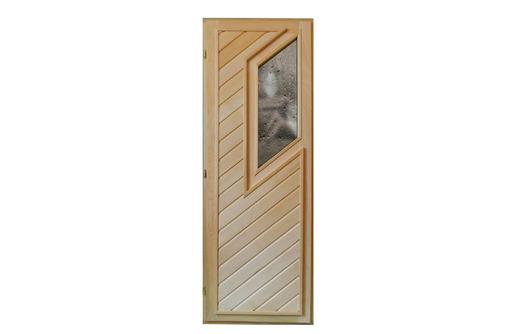 Дверь для бани со стеклом из липы 1,090х0,70, фото — «Реклама Апшеронска»