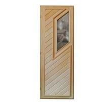 Дверь для бани со стеклом из липы 1,090х0,70 - Двери входные в Апшеронске
