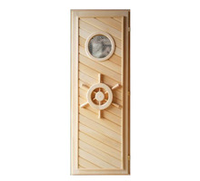 Дверь из липы с иллюминатором 1,90х0,70 - Двери входные в Апшеронске