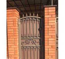 Кованые ворота и калитка - Заборы, ворота в Белореченске
