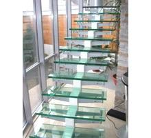 Лестницы и перила из стекла, шкафы-купе, панно и витражи, полки и зеркала - Лестницы в Геленджике
