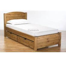 Кровать из деревянного массива с выдвижными шкафами и матрасом - Мебель для спальни в Геленджике