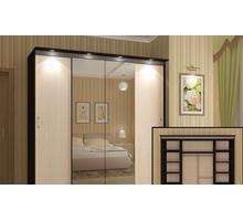 """Шкаф-купе """"Альянс 3"""" с подсветкой - Мебель для спальни в Белореченске"""