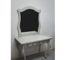 Туалетный столик с зеркалом, новый, ясень, паттина - Мебель для спальни в Белореченске