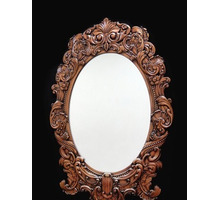 Зеркало резное, овальное 1180x830мм - Мебель для спальни в Белореченске