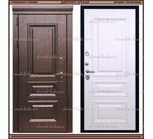 Входная дверь Глория Дуб шоколад / Дуб крем 100 мм Россия : - Двери входные в Краснодаре