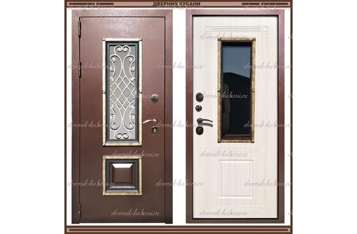 Входная дверь Диана 1,8 мм Сандал белый со стекло-пакетом, фото — «Реклама Краснодара»