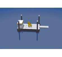Несамоходный плавучий кран с КМУ Soosan SCS867LS - Продажа в Краснодаре