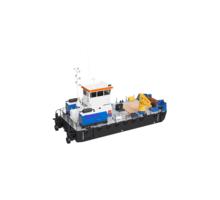 Самоходный плавучий кран с КМУ Soosan SCS736LII - Продажа в Краснодаре