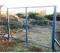 Ворота с сеткой металлические в Кропоткине - Металлоконструкции в Кропоткине