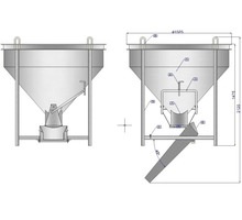 Бадья для бетона Рюмка (БН-2) 2 м.куб. - Инструменты, стройтехника в Краснодарском Крае