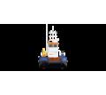 Понтонный буксир - кран с КМУ Soosan 334 - Продажа в Краснодарском Крае