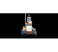 Понтонный буксир - кран с КМУ Soosan SCS514 - Продажа в Анапе