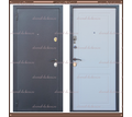 Входная дверь Стела Серый букле / Белое дерево 85 мм. Россия : - Двери входные в Краснодарском Крае