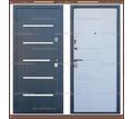 Входная дверь Токио Серый букле / Белое дерево 75 мм. Россия : - Двери входные в Краснодарском Крае