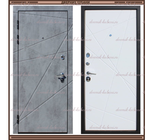 Входная дверь Титан Бетон / Белый 100 мм Россия : - Двери входные в Краснодаре