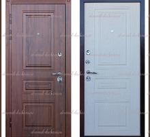Входная дверь Мадрид Дуб тёмный / Белёный дуб 100 мм Россия : - Двери входные в Краснодаре