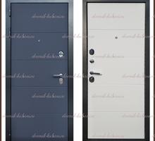 Входная дверь Ультра Графит абсолют софт / Белый снег софт 104 мм Россия : - Двери входные в Краснодаре