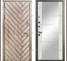 Входная дверь Канада Зеркало Дуб серый / Белый софт 100 мм Россия : - Двери входные в Краснодаре