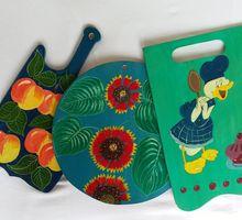 Доски кухонные разделочные и доски под горячую посуду с рисунками - Хозтовары в Краснодаре