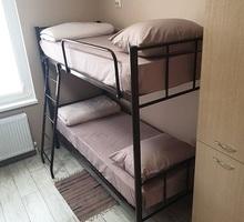 Кровати на металлокаркасе, двухъярусные, односпальные для хостелов, гостиниц, рабочих, - Мебель для спальни в Туапсе