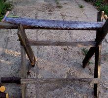 пила зубчатая двуручная бу по древесине в отличном состоянии - Инструменты, стройтехника в Краснодаре