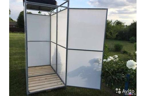 Отличный садовый душ с тамбуром, фото — «Реклама Горячего Ключа»