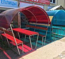 Новые садовые беседки со столиком и лавкой - Садовая мебель и декор в Краснодарском Крае