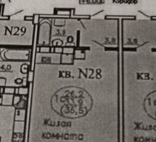 1-комнатная студия 34,м кв 6 эт, р-н ул Кореновская - Квартиры в Краснодаре