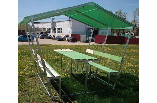 Новые садовые беседки со столиком и лавкой, фото — «Реклама Апшеронска»