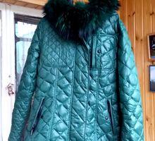 куртка женская-пуховик бу с капюшоном в отличном состоянии - Женская одежда в Краснодарском Крае