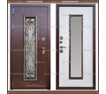 Входная дверь Джулия 1,8 мм Сандал белый 960 х 2200 со стекло-пакетом : - Двери входные в Краснодаре