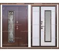 Входная дверь Джулия 1,8 мм Белёный дуб  2050 х 1300 со стекло-пакетом : - Двери входные в Краснодаре