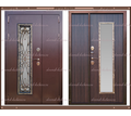 Входная дверь Джулия 1,8 мм Венге  2200 х 1200 со стекло-пакетом : - Двери входные в Краснодаре