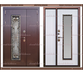 Входная дверь Джулия 1,8 мм Белёный дуб  2200 х 1300 со стекло-пакетом : - Двери входные в Краснодаре