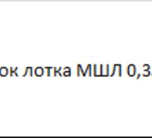 Оголовок лотка МШЛ 0,35 - ЖБИ в Краснодаре