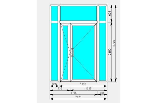 Витраж алюминиевый - Двери входные в Краснодаре