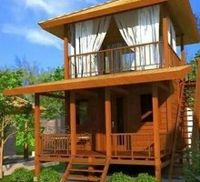 Изготавливаем пляжные домики - Строительные работы в Краснодаре