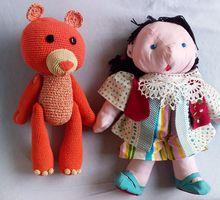 Игрушки детские мягкие, связанные из ниток - Игрушки в Краснодарском Крае