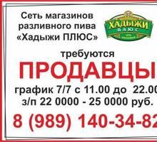 В сеть магазинов различного пива «Хадыжи ПЛЮС» требуются продавцы - Продавцы, кассиры, персонал магазина в Армавире