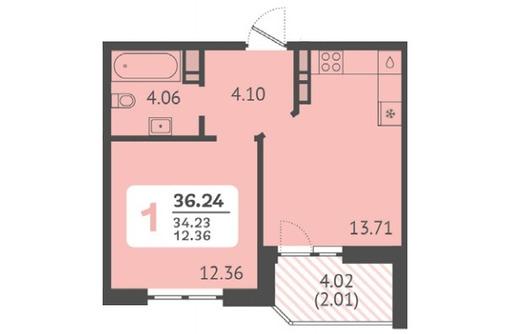 Продается 1-к квартира 36м² 8/8 этаж - Квартиры в Краснодаре