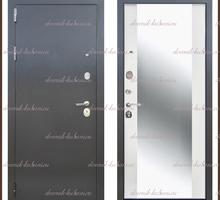Входная дверь Фаворит зеркало Антик серебро / Белый матовый 90 мм. Россия - Двери входные в Краснодарском Крае