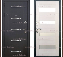 Входная дверь Муар -1 Чёрный муар / Лиственница беленая 100 мм Россия - Двери входные в Краснодаре