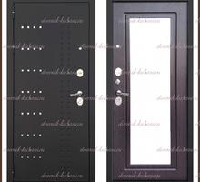 Входная дверь Милена Зеркало Чёрный муар / Венге 90 мм Россия - Двери входные в Краснодаре
