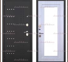 Входная дверь Милена Зеркало Чёрный муар / Сандал белый 90 мм Россия - Двери входные в Краснодаре